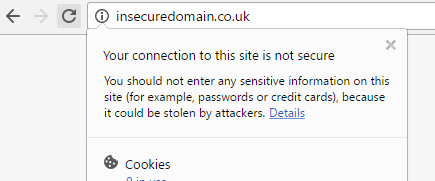 Your connection to this site is not secure