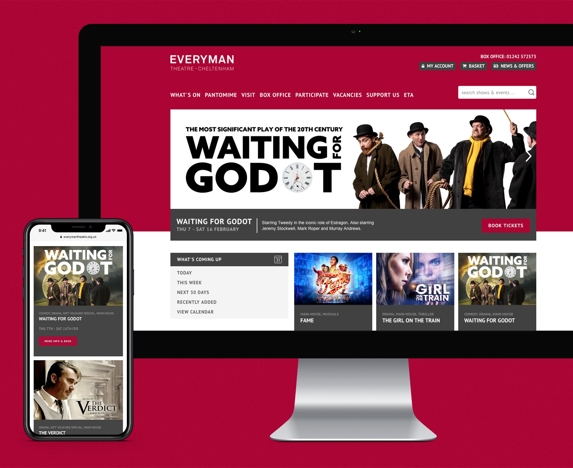 Everyman Theatre Cheltenham - web design & development | 16i
